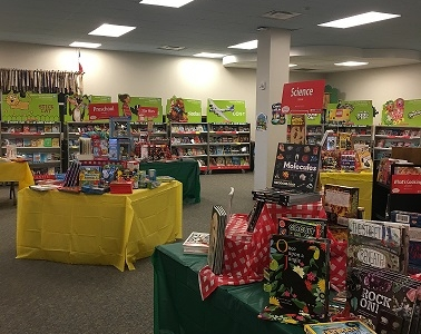Photo depicting Book Fair in the Elementary Library