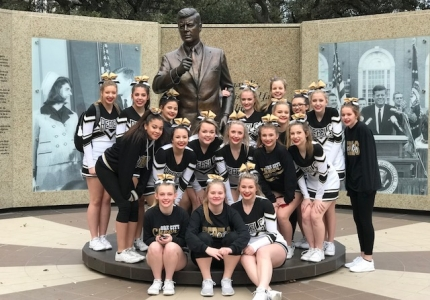 Photo depicting Varsity Cheer Squad at 2018 Cheer Competition