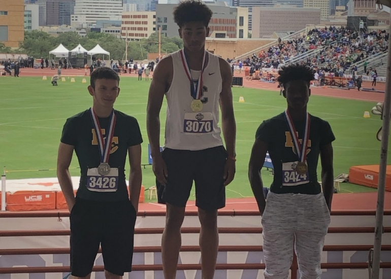 Photo depicting Keyshawn Kyle - State Champion for High Jump