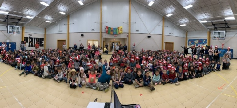 Photo depicting Dr. Seuss Week at Ore City Elementary School