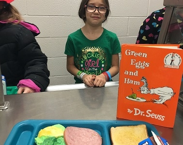Photo depicting Green Eggs and Ham Breakfast