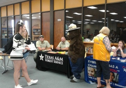 Photo depicting Texas A&M Forestry Service at Health Fair 2017