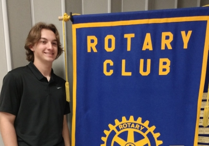 Photo depicting Lane Burks is Recognized as Student of the Month at the Rotary Luncheon