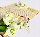 Book of Poetry with flowers