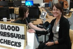 Photo depicting Mrs. Anderson at the Health Fair